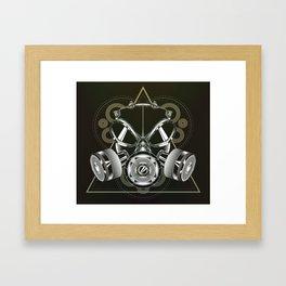 Gasmask Framed Art Print