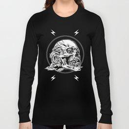 Skullflower Black and White  Long Sleeve T-shirt
