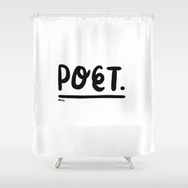 rendez-vous at the poetry section. Shower Curtain