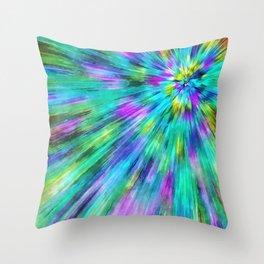 Tie Dye Starburst Throw Pillow