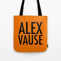 alex vause Tote Bags featuring Alex Vause (2) by Zharaoh