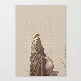 Tunisian Bloom - digital collage print Canvas Print