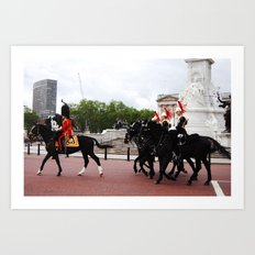 The Guards with their Horses 14 Art Print