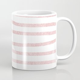 Simply Drawn Stripes in Rose Gold Sunset Coffee Mug