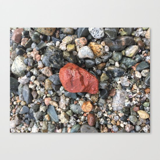 Little Rocks from the Beach Canvas Print