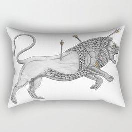Mesopotamian Lion Rectangular Pillow