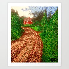 The Red House in Finland Art Print