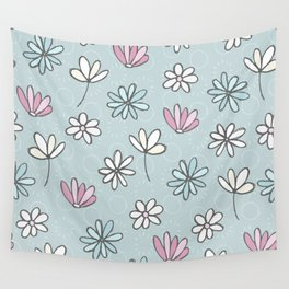 Cute Floral Ditsy Pattern Wall Tapestry