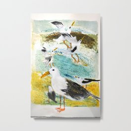Seagulls Narrative Metal Print