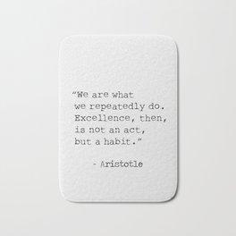 Aristotle quote 300 Bath Mat