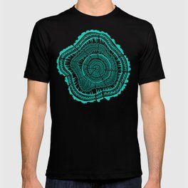 Turquoise Tree Rings T-shirt