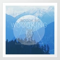 woody Art Prints featuring WOODY by Kath Korth