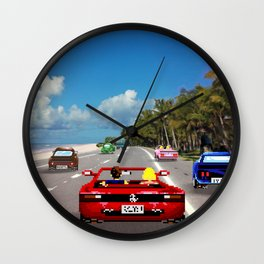 Outrun - Pixel art Wall Clock