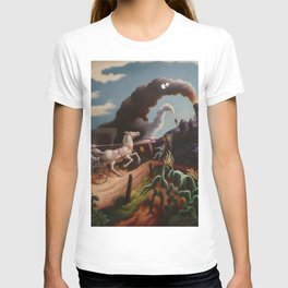 Classical Masterpiece 'Wreck of the Ol' 97' By Thomas Hart Benton T-shirt