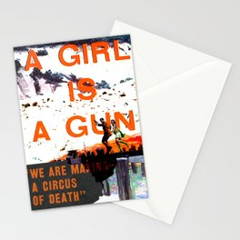 A Girl Is A Gun Stationery Cards