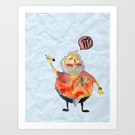 Pi Power! Art Print