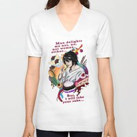 death note V-neck T-shirts featuring Fandom Pride: Asexuality Special, L Death Note by Seraph Limonade