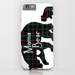 Mama bear one cub iPhone Case