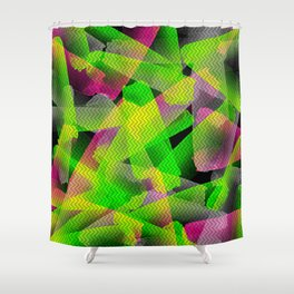 I Don't Do Normal - Abstract Print Shower Curtain