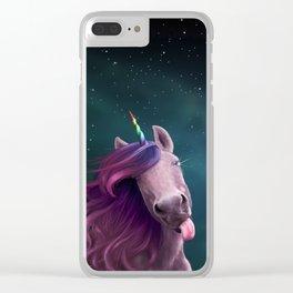 Sassy Unicorn Clear iPhone Case