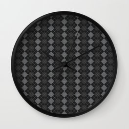 Gray Checkered Knitted Weaving Wall Clock