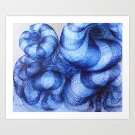 Blue Abyss Art Print