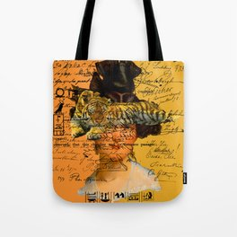 GENTLEWOMAN FACE WITH SLEEPING TIGER II Tote Bag