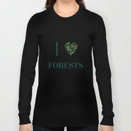 I heart Forests Long Sleeve T-shirt