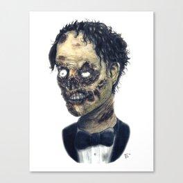 Tux Zombie Canvas Print