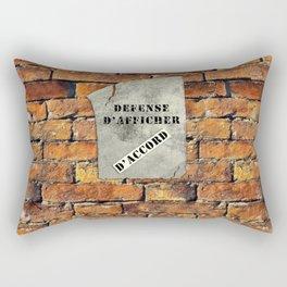 Defense D'Afficher Rectangular Pillow
