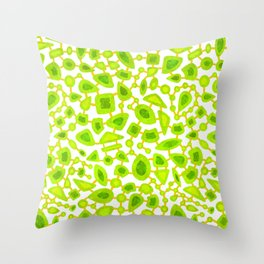 Neon jewels Throw Pillow