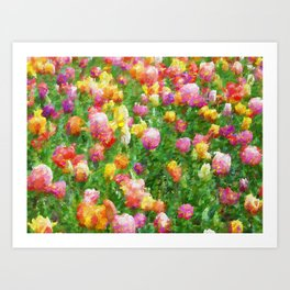 A Vision of Tulips Art Print