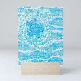 polynesian TURTLE OCEAN spray Mini Art Print
