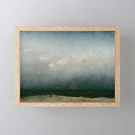 Caspar David Friedrich - The Monk by the Sea Framed Mini Art Print