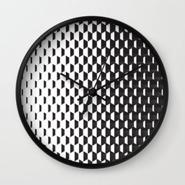 Hexagonal Gradients Wall Clock