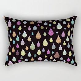 Glitter Rain Rectangular Pillow