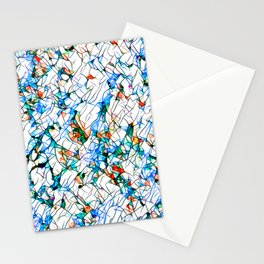 Glass stain mosaic 1 abstract - by Brian Vegas Stationery Cards