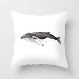 North Atlantic Humpback whale Throw Pillow