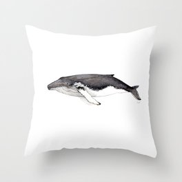 North Atlantic Humpback whale Throw Pillow