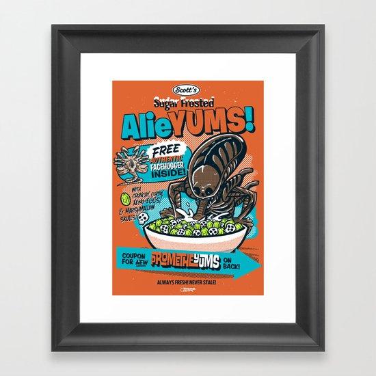AlieYUMS! (orange variant) Framed Art Print
