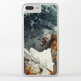 The Weeping Angel Clear iPhone Case