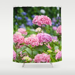 Pink & Lavender Flower Clusters Shower Curtain