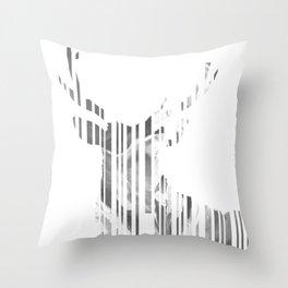 Geometric black Stag Throw Pillow