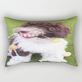 Labradoodle Easter Egg Hunt Rectangular Pillow