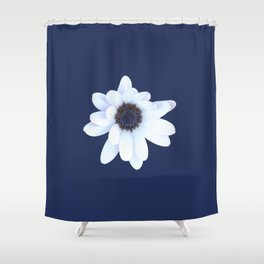 Sleepy African Daisy Flower Shower Curtain
