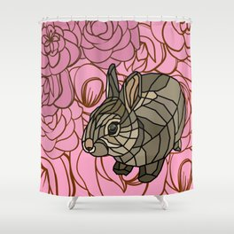 Bella - Mosaic Bunny Shower Curtain