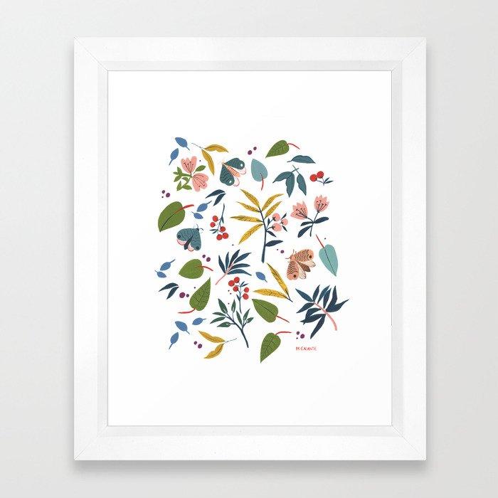 Moth Garden Framed Art Print