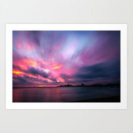 Dramatic Sunset at Anse Vata Bay, Noumea, New Caledonia Art Print