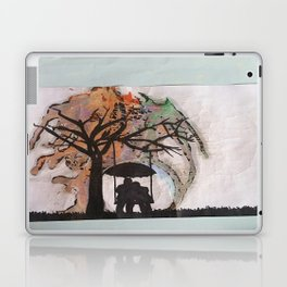under a tree as rain falls Laptop & iPad Skin