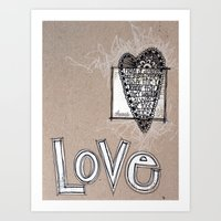 Love - Pencil Drawing Art Print